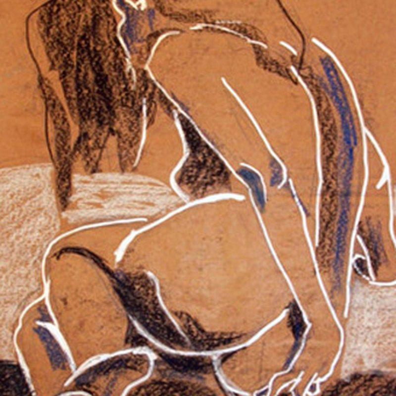 """10 nude art """"Weiblicher Rückenakt"""", Studie, Kreiden, Stifte, DIN A 0"""