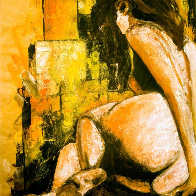 "11 nude art ""Weiblicher Rückenakt"", Mischtechnik, DIN A 0"