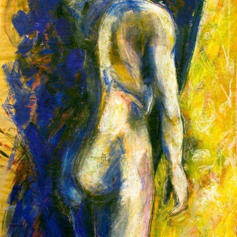 """12 nude art """"Männlicher Akt, stehend"""", Mischtechnik, DIN A 0"""