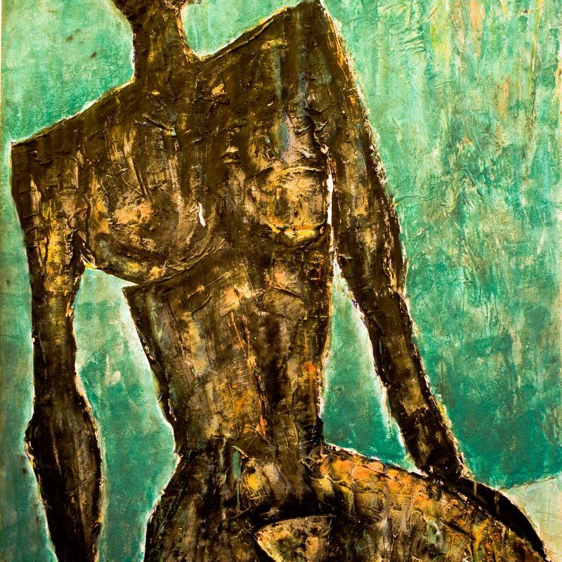 """abstract art """"Schwarze Frau"""", Mischtechnik, DIN A 0"""