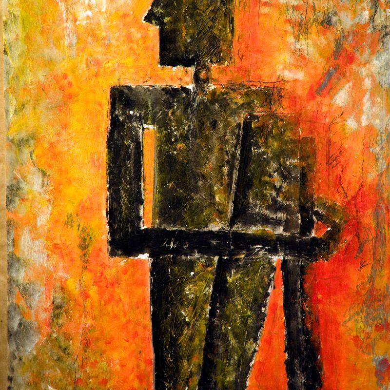 """abstract art """"Schwarzer Mann"""" Mischtechnik, DIN A0"""