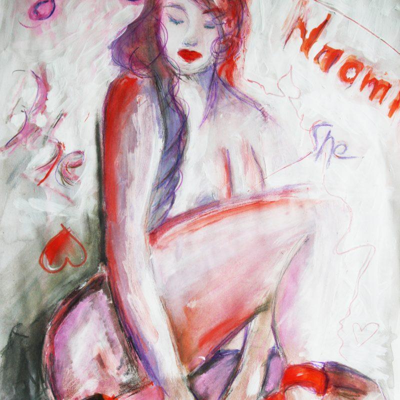 """29 nude art """"Lilith"""", Mischtechnik, DIN A 2"""