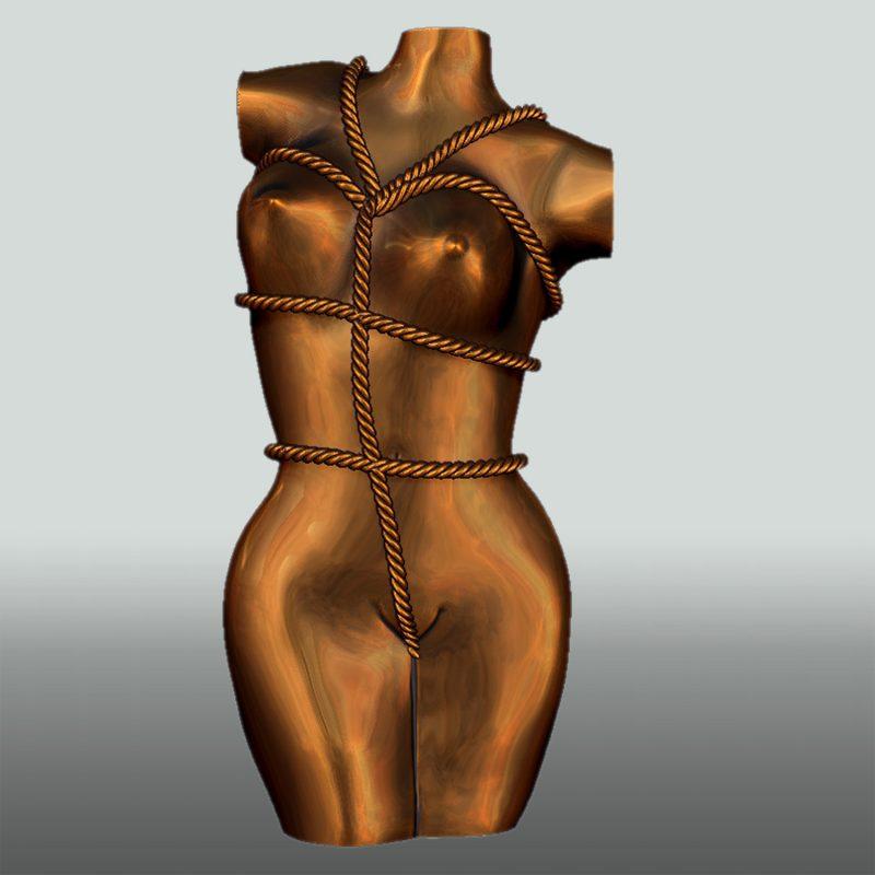 Skulptur Bondage Lady, Vorderseite, Bronze