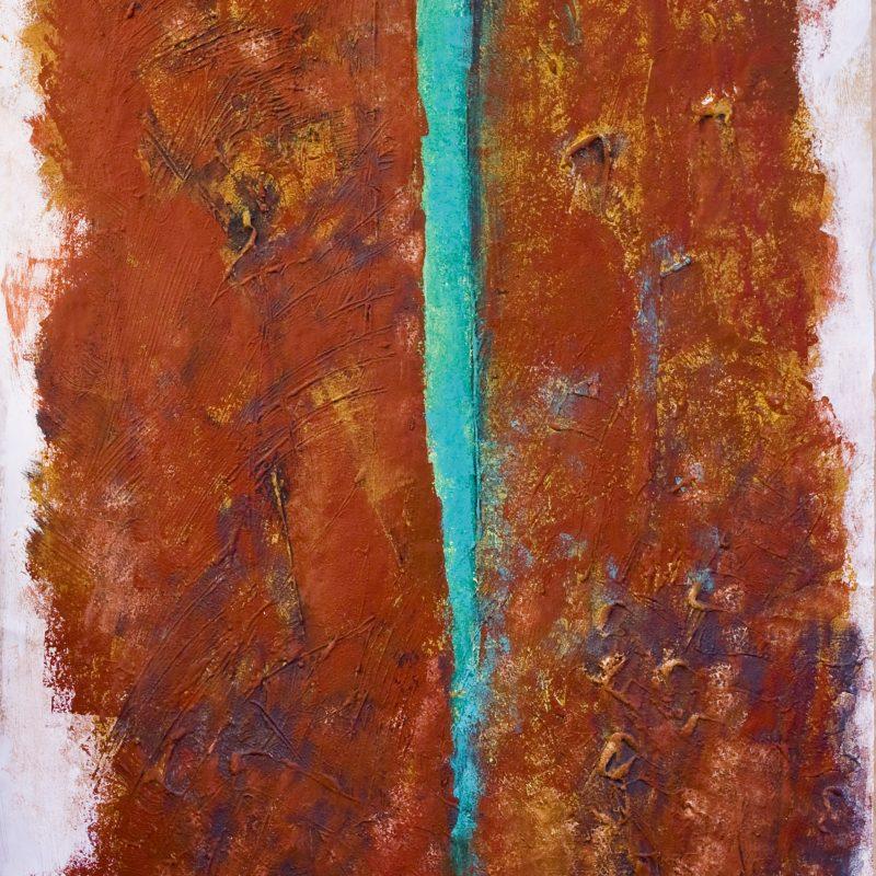 """abstract art """"From earth 1"""" Mischtechnik, DIN A 0"""