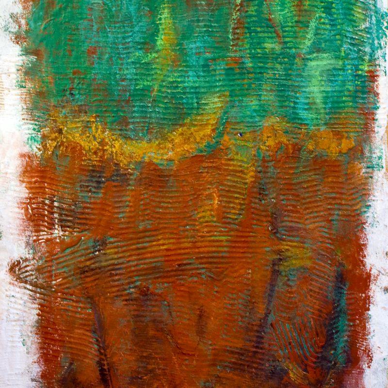 """abstract art """"From earth 2"""" Mischtechnik, DIN A 0"""