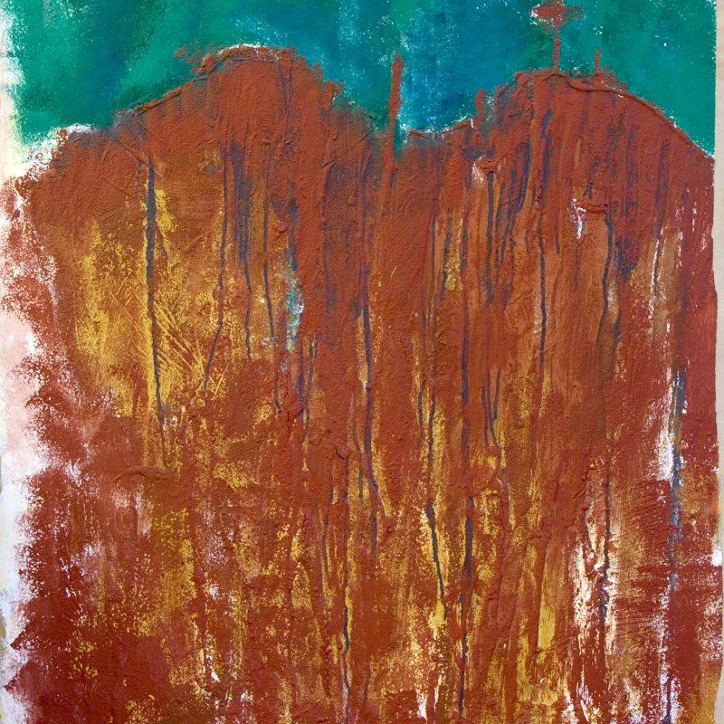 """abstract art """"From earth 3"""" Mischtechnik, DIN A 0"""