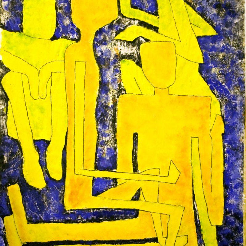 """abstract art """"Gelbe Gruppe"""" Mischtechnik, DIN A 0"""