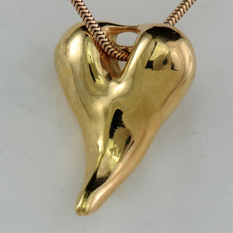 Erotikschmuck, Anhänger Kinky Tongue, Gold/vergoldet