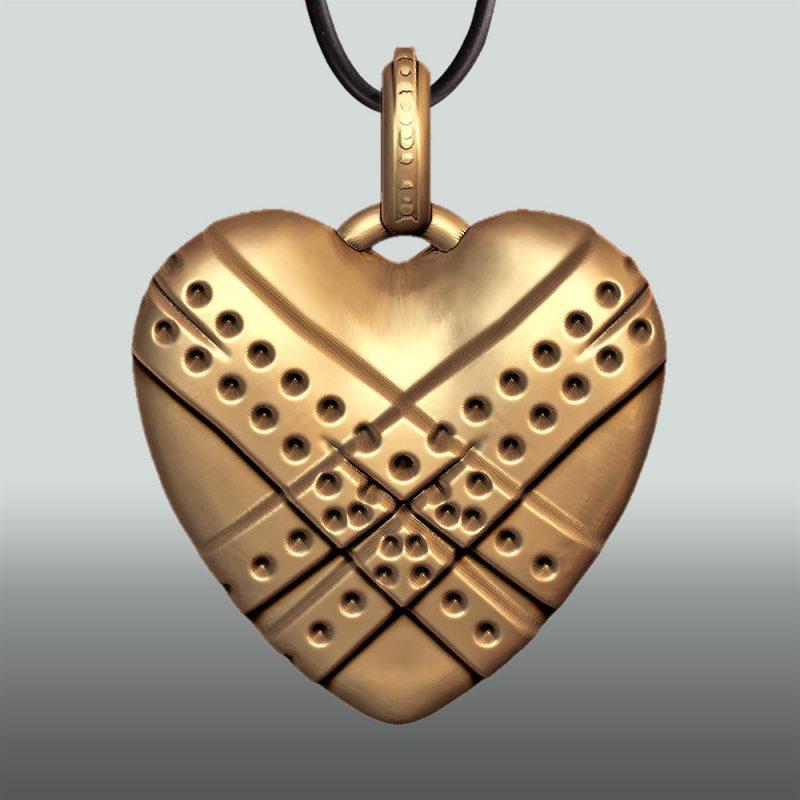 Erotikschmuck, Herzanhänger Fixed Heart, Gol/vergoldet, Vorderseite