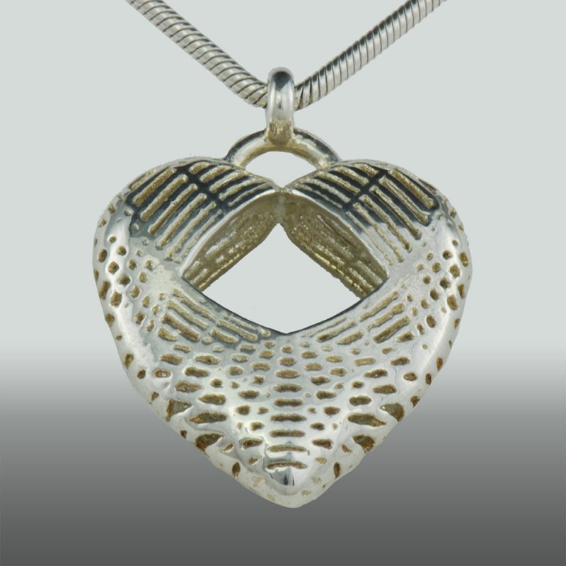 Herzanhänger Net Heart – extravaganter Silberanhänger – Erotikschmuck - Herzanhänger