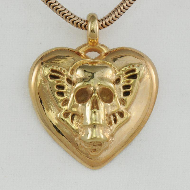 Herzanhänger Butterflyskull - Herzanhänger - Schmetterling – Herz-Totenkopf - Gotik