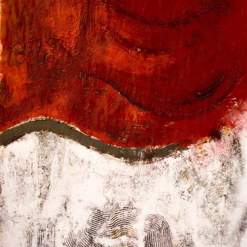 """abstract art """"Heart 3"""" Mischtechnik, DIN A 0"""