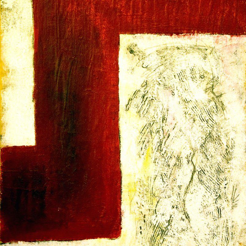 """abstract art """"Heart 4"""" Mischtechnik, DIN A 0"""