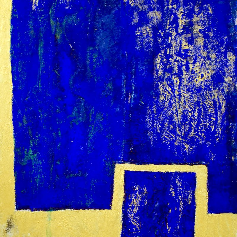 "abstract art""Kind of Blue"" Mischtechnik, DIN A 0"
