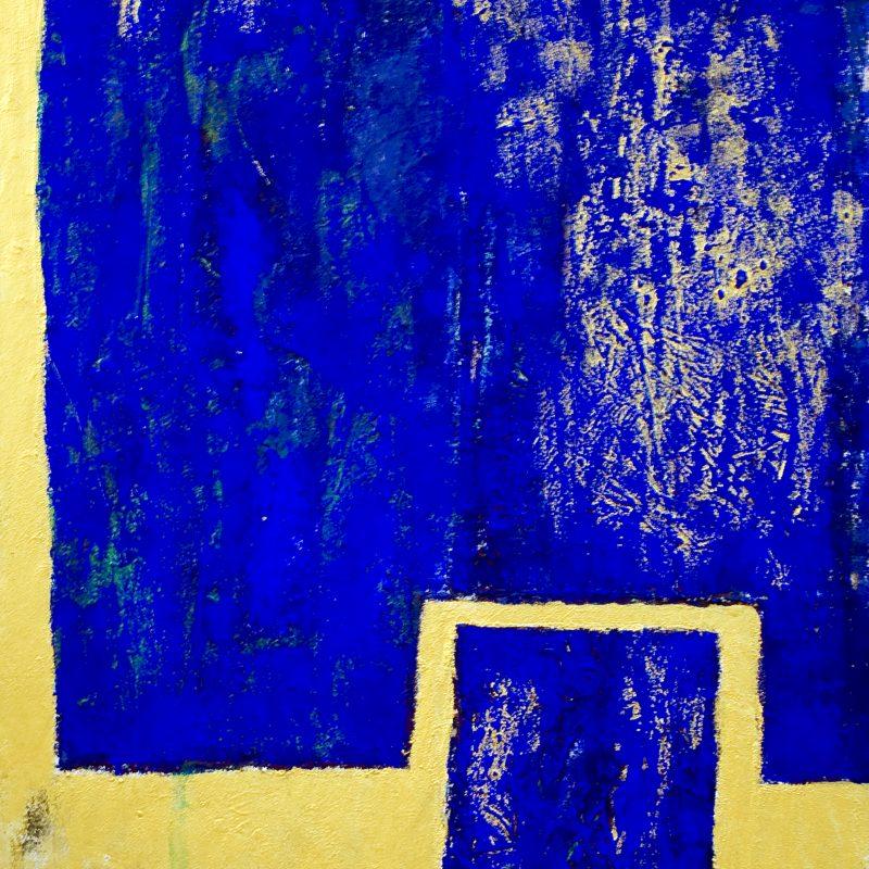 """abstract art""""Kind of Blue"""" Mischtechnik, DIN A 0"""