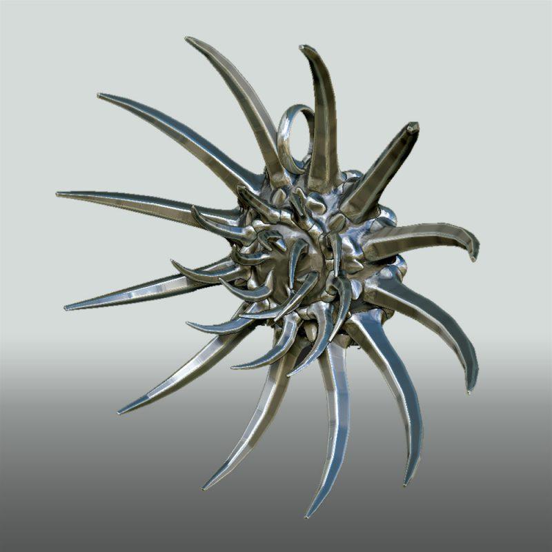 Anhänger The Claw - Exklusiver, extravaganter Silberschmuck - Erotikschmuck - Kralle - BDSM