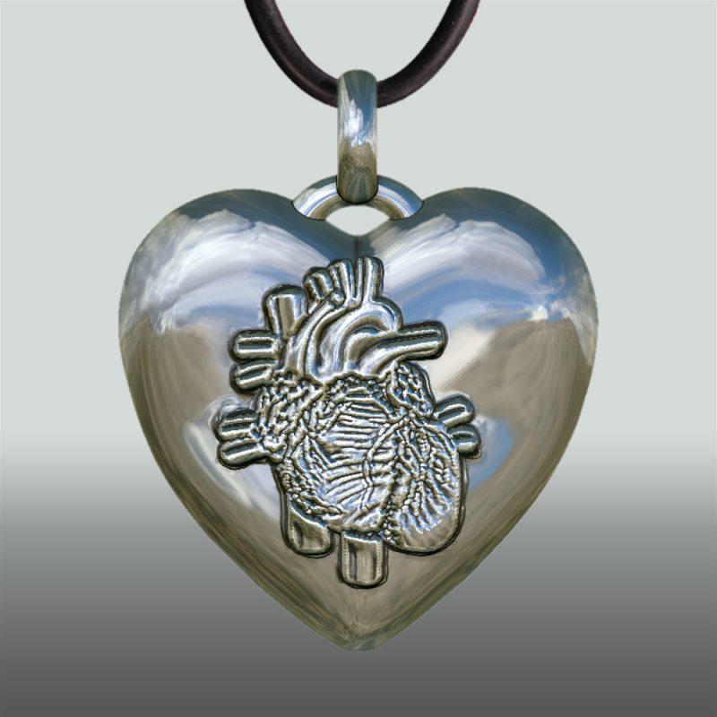 Herzanhänger Beating Heart – Herzsymbol – Schlagendes Herz - anatomishes Herz