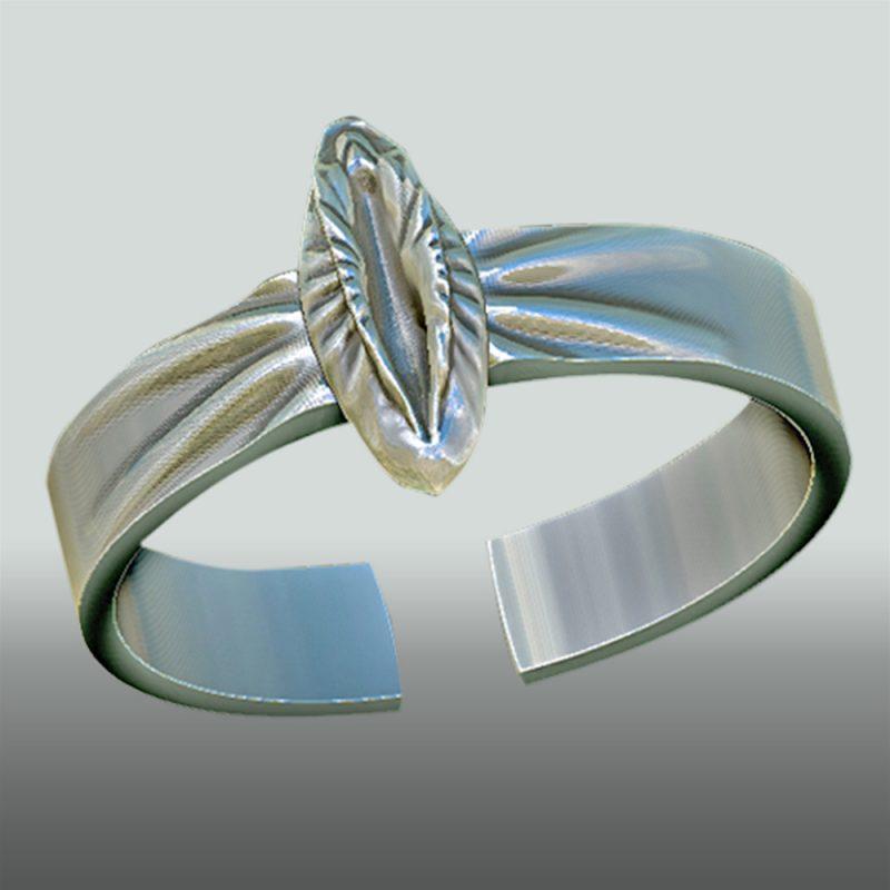 Erotikschmuck, Yoni Ring silber, Ansicht 2