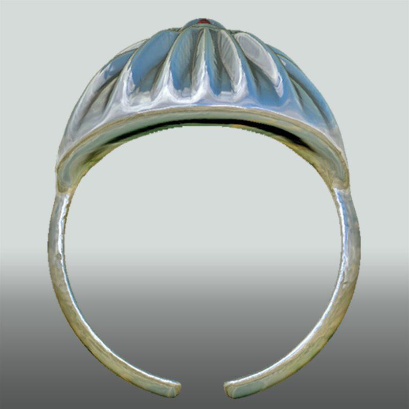 Erotikschmuck, Ring Waves mit Rubin, Ansicht 2