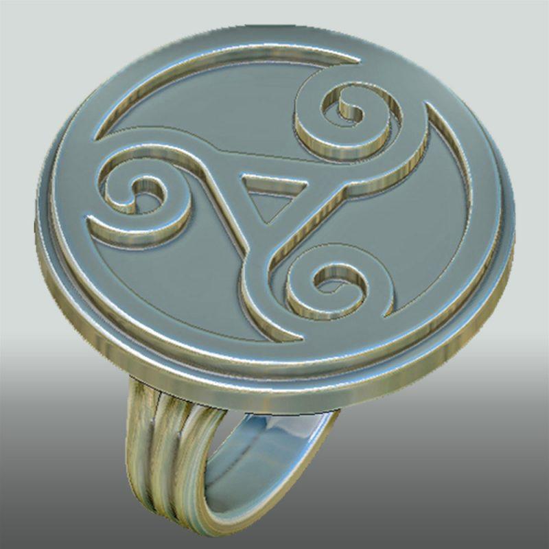 Triskele Ring, silber, Detail 2