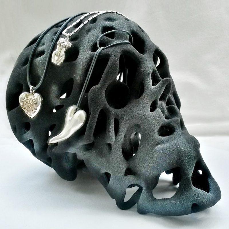 Graphit Skull – Schädel in Graphit. 3D-Ausdruck, Ansicht 1