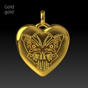 Material Gold, vergoldet