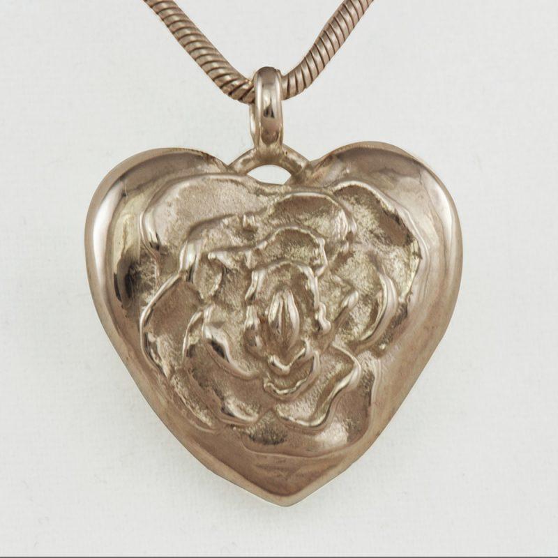 Erotikschmuck, Herzanhänger Rosebud Heart