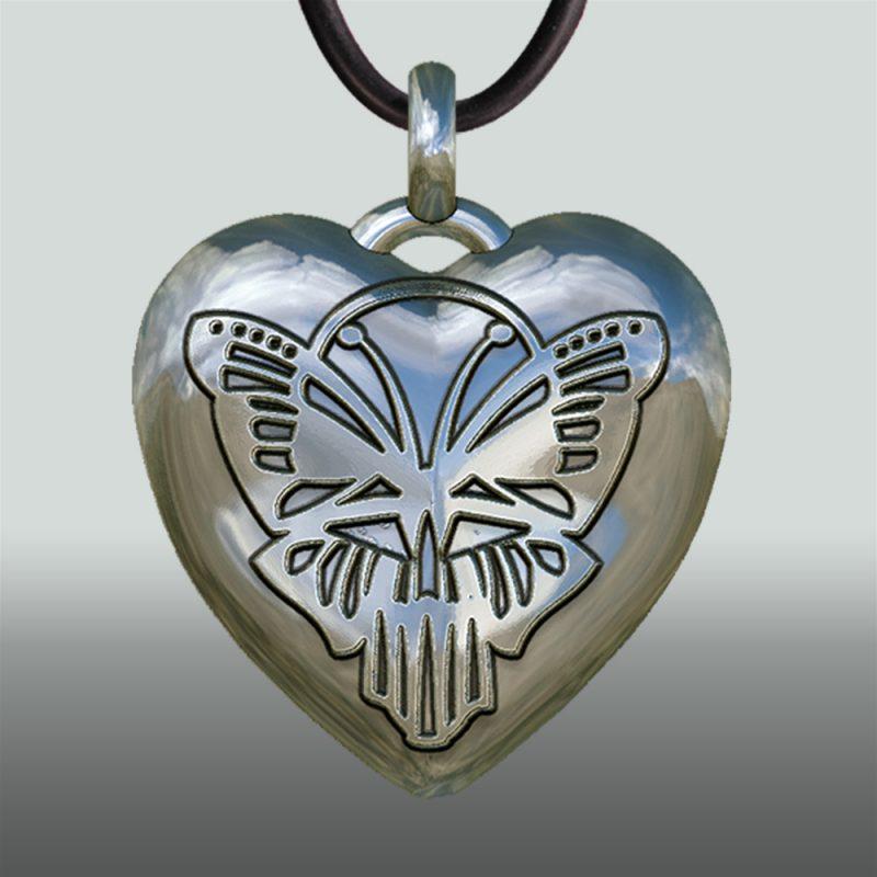 Herzanhänger Butterfly - exklusiver Silberanhänger - Schmetterling – Herz-Schmetterling - Gotik - Kult