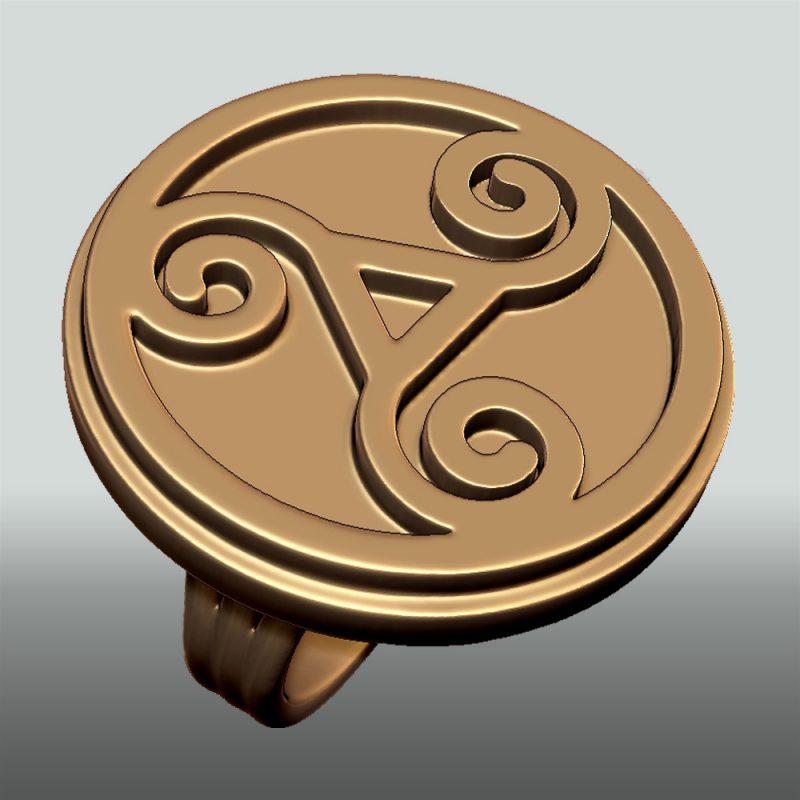 Triskele-ring_gold, Detailansicht