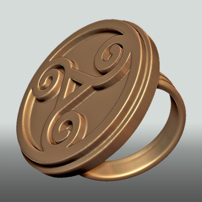 Triskele-ring_gold, Detailansicht, Prototyp, Detailansicht