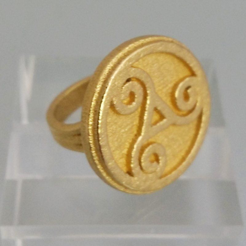 Triskele-ring_gold, Detailansicht, Prototyp