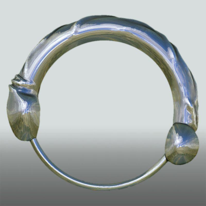 C-Ring Phallus - silber