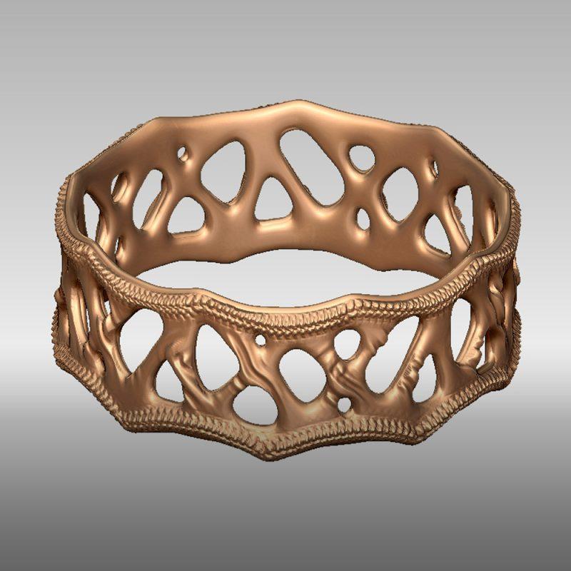 Organic Ring 1 - gold