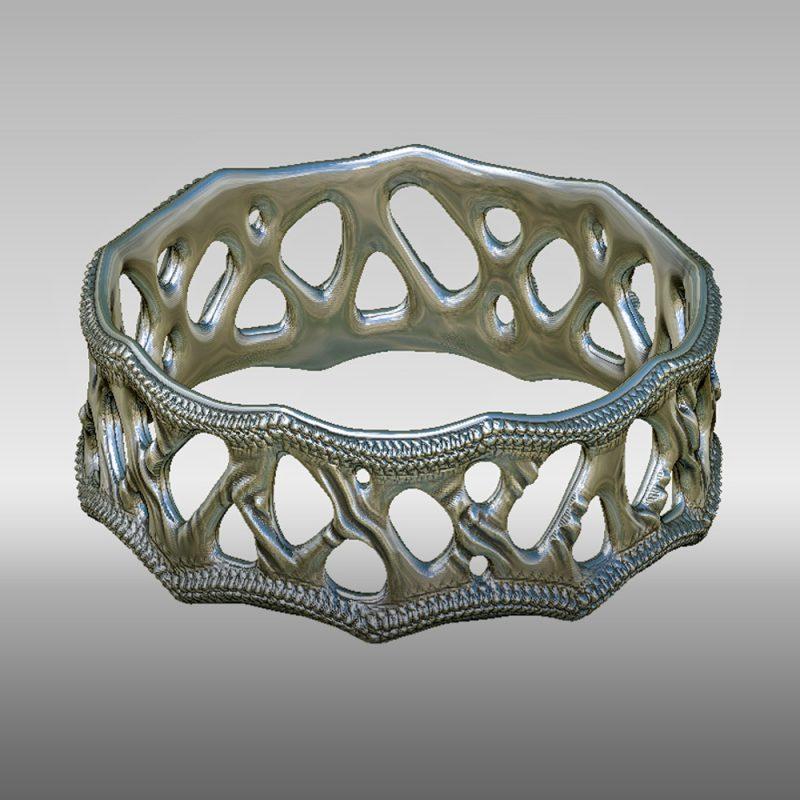 Organic Ring 1 - silber