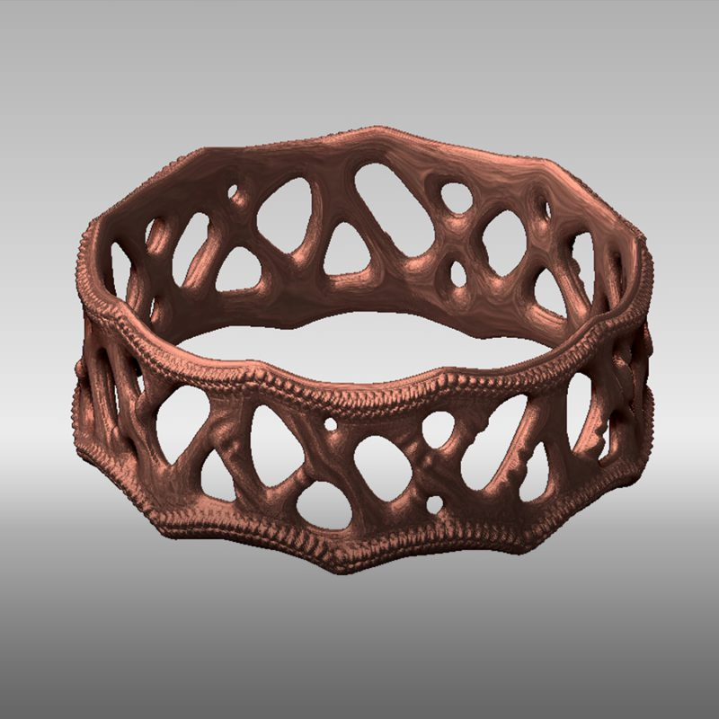 Organic Ring 1 - bronze