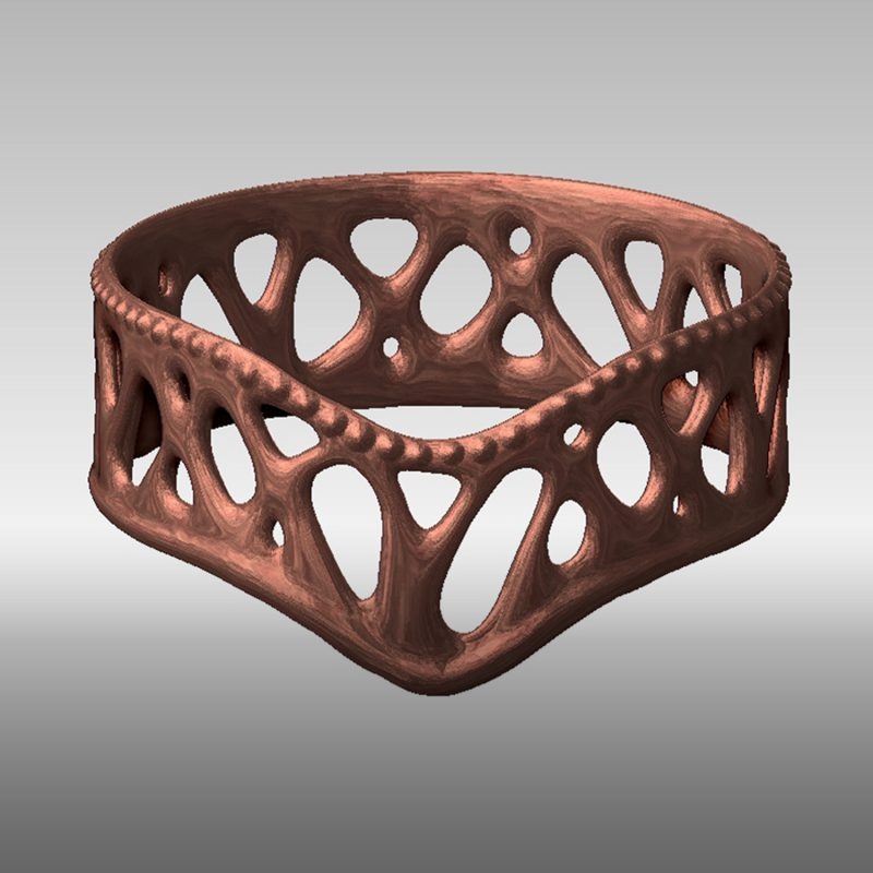 Organic Ring 2 - bronze