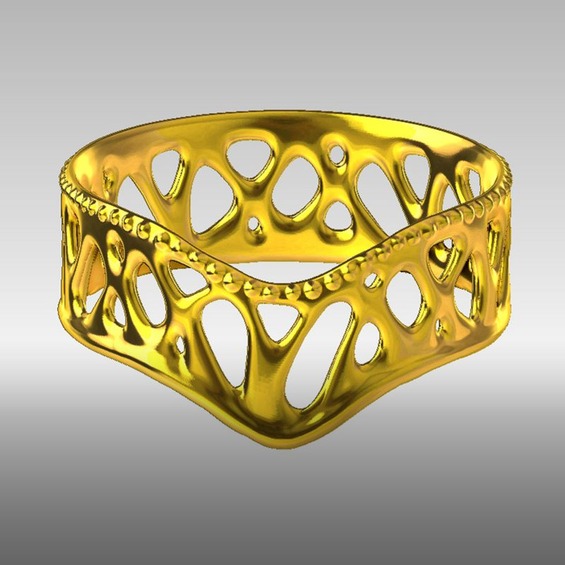 Organic Ring 2- gold