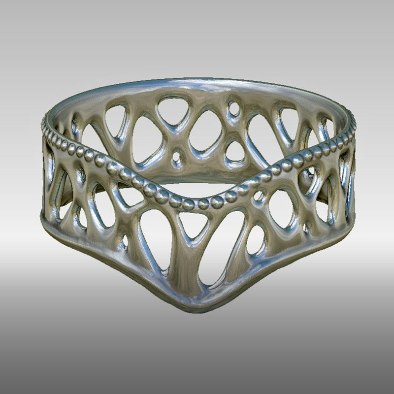 Organic Ring 2 - silber